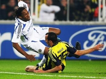 Edu Dracena Fenerbahce Drogba Chelsea Champions 02/04/2008