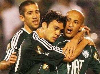 Evandro Kleber Alex Mineiro Comemoram Gol Palmeiras Goias Campeonato Brasileiro 29/10/2008