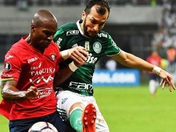 Edu Dracena Palmeiras Jorge Wilstermann Libertadores 15/03/2017