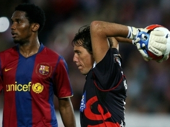 Diego Alves em ação pelo Almería