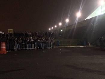 Torcida garagem Corinthians x Palmeiras