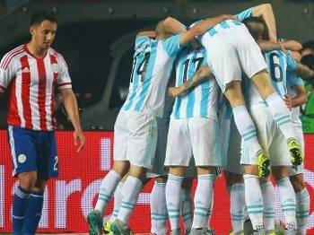 Argentina atropelou o Paraguai na semifinal