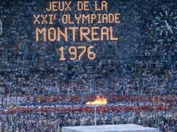 Cerimônia de abertura dos Jogos Olímpicos de Montreal em 1976