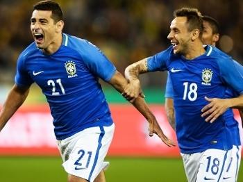 Diego Souza Comemora Gol Brasil Australia Amistoso 13/06/2017