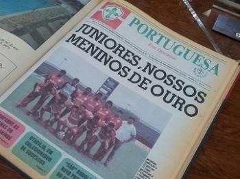 Publicação da Portuguesa exaltando time campeão do Paulista sub-20 em 1990