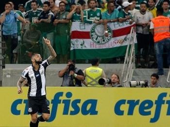 Gabriel fez o gol de empate no Allianz Parque