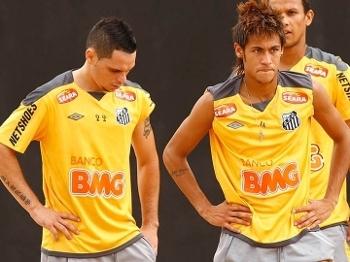 Neymar Para Treino Santos 23/01/2012