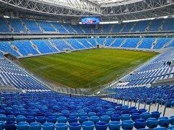 Visão interna do Krestovsky Stadium