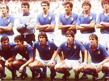 Italia Posada Copa do Mundo 1982 15/06/1982