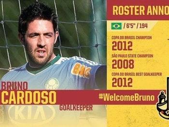 Ex-palmeirense Bruno é um dos brasileiros nos EUA