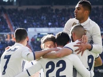 Real Madrid Comemora Gol Granada Campeonato Espanhol 07/01/2017