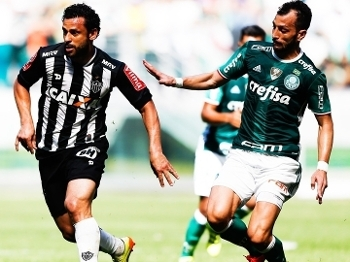 Edu Dracena Palmeiras Fred Atletico-MG Campeonato Brasileiro 24/07/2016