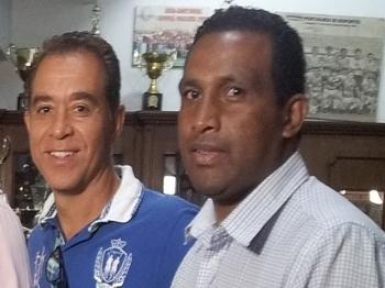 Julinho (à dir.) um dos campeões da Copa São Paulo com a Portuguesa