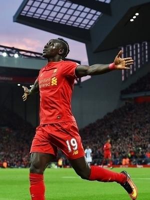 Sadio Mane Comemora Gol Liverpool West Brom Campeoanto Ingles 22/10/2016