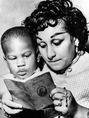 Lucy e o filho Benny Jr.