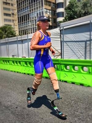 Foto de João Maia no triatlo, no último domingo, no Rio