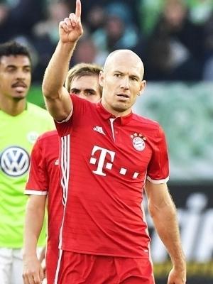 Robben Comemora Gol Bayern Wolfsburg Campeonato Alemão 29/04/2017