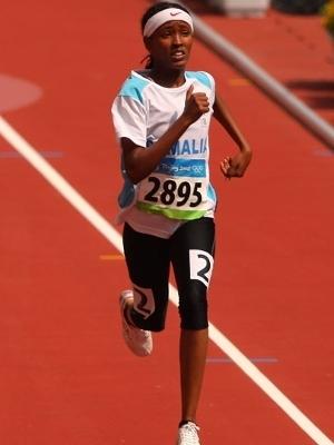Samia Omar disputou os Jogos Olímpicos de 2008