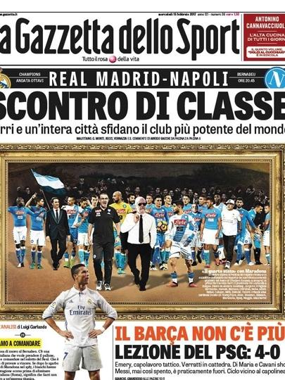 Gazzetta dello Sport decreta: 'o Barça acabou'