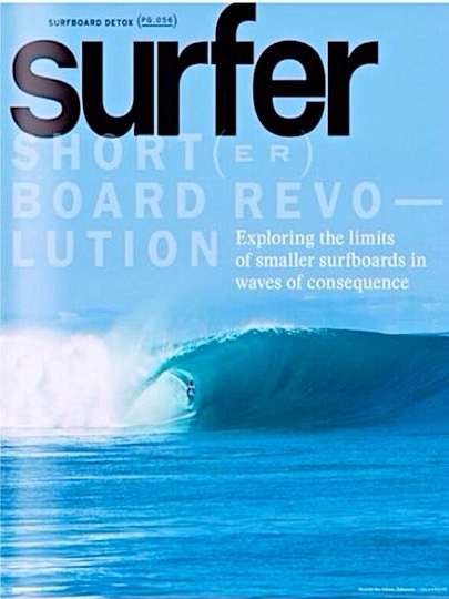 Ricardo dos Santos na capa da revista Surfer, uma das mais respeitadas do mundo.