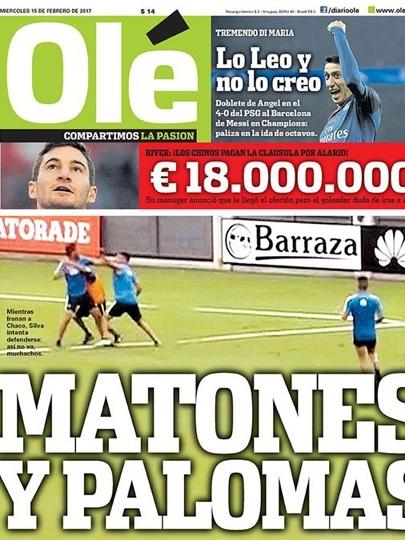 Trocadilho com apelido de Messi e exaltação a Di María no Olé