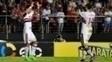 Luiz Araújo e Lucas Pratto comemoram gol do São Paulo contra o ABC pela Copa do Brasil