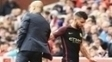 Josep Guardiola Sergio Aguero Manchester City Stoke City Premier League 20/08/2016