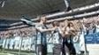 Pedro Rocha comemora o primeiro gol do Grêmio contra o Corinthians