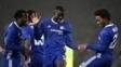 Chalonah, Zouma e Willian comemoram gol do Chelsea