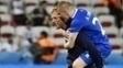 Hallgrímsson comemora após vitória da Islândia contra a Inglaterra