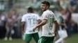 Alan Ruschel, na partida entre Palmeiras e Chapecoense, a última antes de tragédia