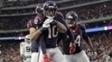 DeAndre Hopkins comemora seu touchdown na vitória dos Texans