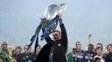 Em 2010, a Inter de Milão foi campeã da Champions e levantou e comemorou no gramado.