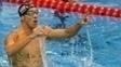 Phelps comemorou muito o triunfo nos 200m borboleta