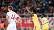 Cuadrado comemora gol da Juventus contra o Olympiacos, na Grécia
