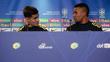 Philippe Coutinho e Gabriel Jesus concederam coletiva neste domingo