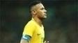 Neymar com a braçadeira de capitão da seleção brasileira nos Jogos Olímpicos