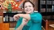 Dilma Rousseff homenageia Neymar fazendo o T de 'tóis'