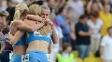 Russas comemoram vitória no 4x400m
