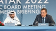 Hassan al-Thawadi, chefe do Comitê Organizados da Copa de 2022, e Jérôme Valcke, secretário-geral da Fifa