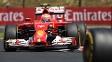 Kimi Raikkonen, piloto finlandês da Ferrari, em ação no GP da Hungria