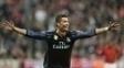 Cristiano Ronaldo em ação pelo Real Madrid nesta temporada