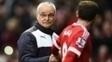 Ranieri, durante empate entre Leicester e Manchester United