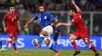 Andre Pirlo, durante jogo da Itália contra o Azerbaijão