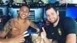 Fãs de futebol, os jogadores brasileiros estiveram com Neymar Jr no fim do ano passado