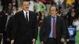 Ilham Aliyev, presidente do Azerbaijão e Michel Platini, presidente da Uefa