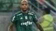 Volante Felipe Melo durante a partida do Palmeiras contra o Internacional
