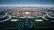 Projeção do estádio de Al Bayt, na cidade de Al Khor, uma das sedes em 2022