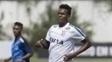 Jô durante treino do Corinthians no Ct