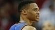Russell Westbrook teve mais um triplo-duplo na derrota do Thunder para os Rockets